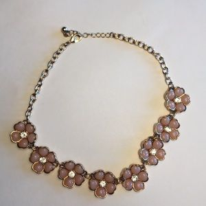 Gold and pink women's choker necklace